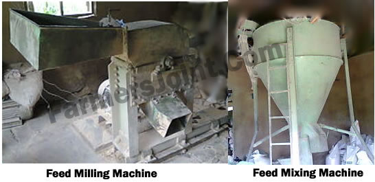 Feed milling and feed mixing machines